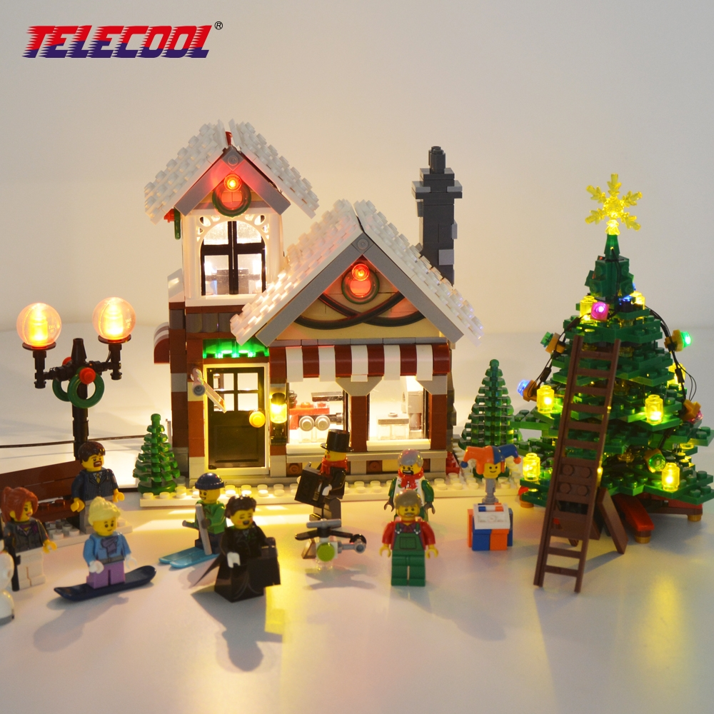 TELECOOL LED Light Block Set For Creator Series 10249 Expert Winter Toy Shop Building Model Block For Kids Christmas Gift картридж для принтера hp 72 c9403a black