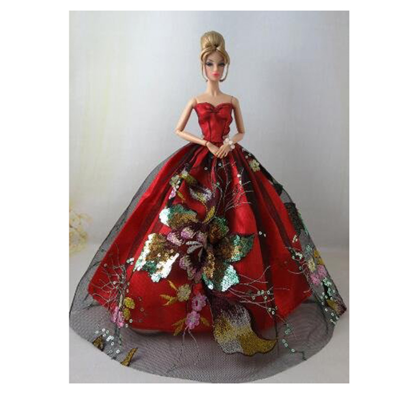 Sizzling Promoting Pink Beautiful Vogue Attractive Strapless Costume For Barbie Doll Kids Reward Equipment for Barbie dolls