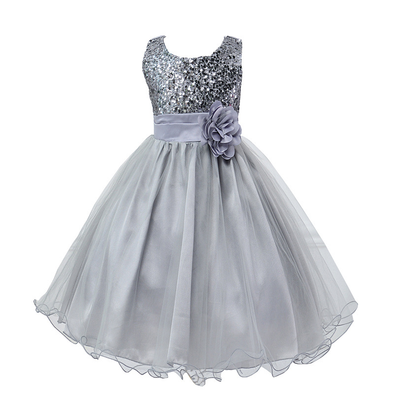 Kids girl princess dresses summer baby girls sleeveless for Dresses for afternoon wedding