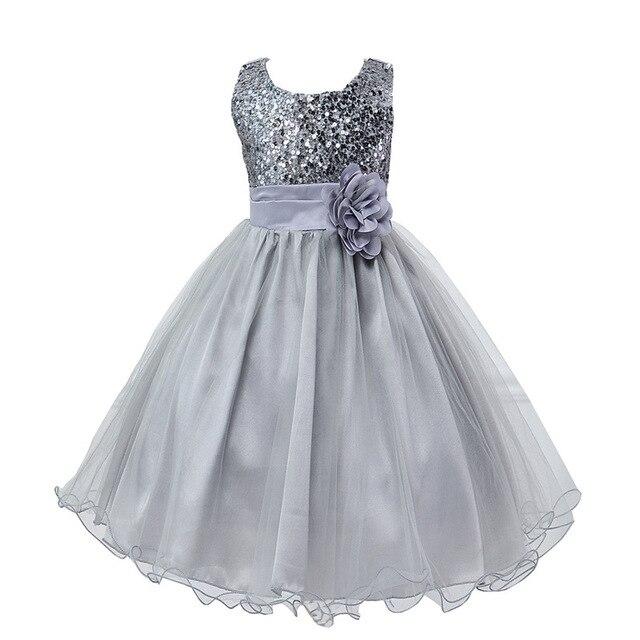 Kids Girl Princess Dresses Summer Baby Girls Sleeveless Dresses for Evening Party  Sequin Dress Wedding Bridesmaid Ball Gown Prom a0099d6d689e