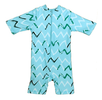Bonverano TM Kids Sun Suit UPF 50 Sun Protection S S Zipper Stripe One Piece