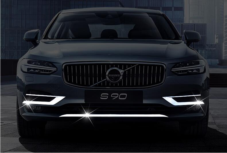 JIOYNG Front Bumper Protector Guard Lid Molding Cover Trim &Fog Lamp Cover For VOLVO S90 2017 2018