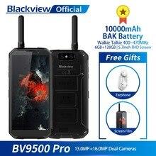 Blackview BV9500 Pro Waterproof Walkie Talkie Smartphone 6GB RAM 128GB ROM Octa Core 5.7″ FHD 18:9 10000mAh Battery Mobile Phone