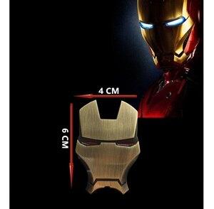 Image 5 - 10pcs 3D In Metallo Cromato Iron Man adesivo para carro Emblema Adesivi Decorazione The Avengers Styling Auto Decalcomanie Accessori Esterni per volkswagen