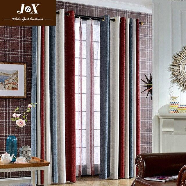 Gestreiften Moderne Vorhänge Für Das Schlafzimmer Elegante Fenster Vorhänge  Für Wohnzimmer Jalousien Vorhänge Fertige Vorhänge Rot