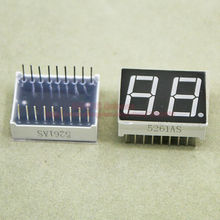 (10pcs/lot) LED Display 5621AR 0.56 Inch 2 Digits 7 Segment Red LED Display 18 Pins Share Common Cathode Digital Display(China)