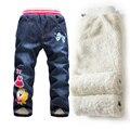 2016 Imprescindibles Chicas Jeans Pantalones, Además de Terciopelo Engrosamiento de Otoño e Invierno Leggings de Mezclilla para La Muchacha de Los Niños Pantalones Calientes