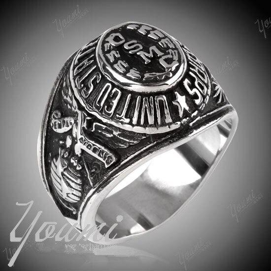 USMCSignet Ring Fashion Stainless Steel Marine Corps Ring Men