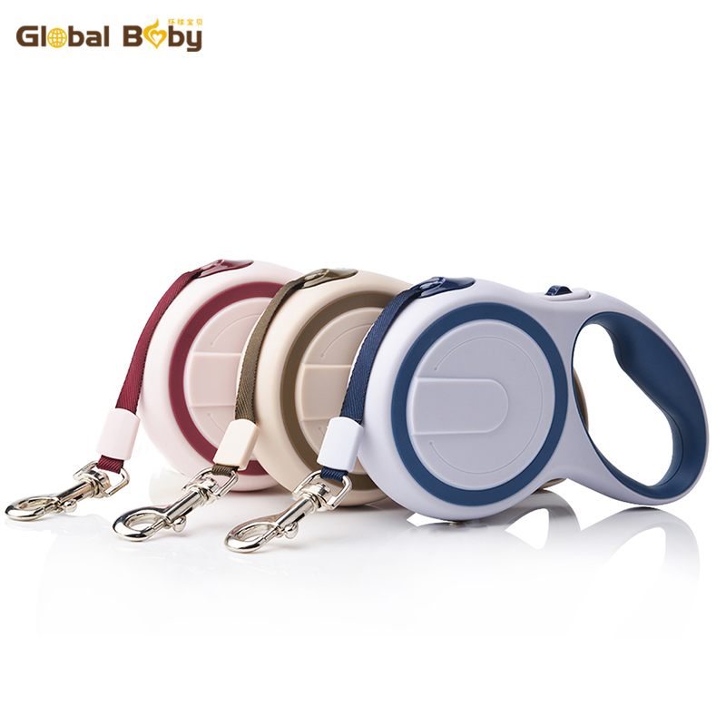 Ny Ankomst Märke ABS Högkvalitativ Stabil Driftbar 3 Meter Automatisk Retractable Dog Traction Tape Leashes Pet Leads