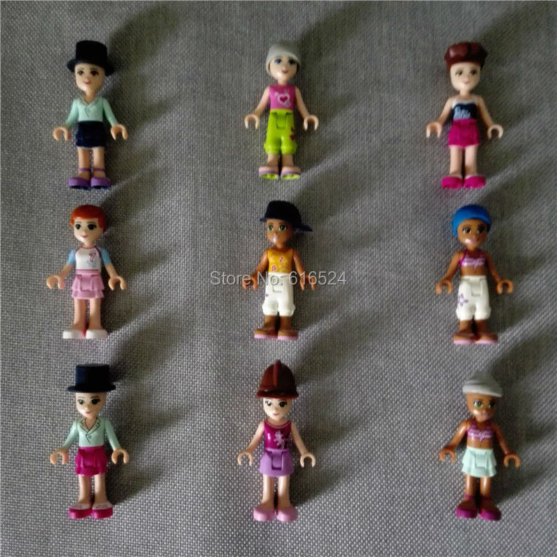 20pc/lot Rare Original Legoe Friends Building blocks kawaii anime minifigure Gift for girl Lepin city Action & Toy Figures lps