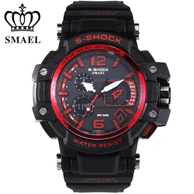 Outdoor Sports Men Watch 50m Waterproof LED Electronic Digital Watch Luxury Brand Men's Wristwatch Male Clock montre hommeWS1509