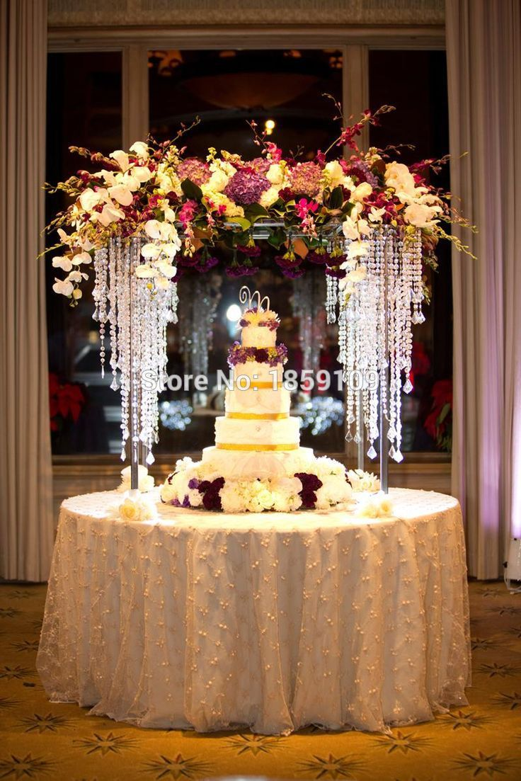 Buy 100cm tall 3 tiers crystal bead for Decoration stand