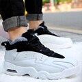 Hombre cálido Zapatos de Aire de Los Hombres Botines de Cuero de Felpa Suave Zapatos ocasionales de Los Hombres Zapatos de Invierno y El Algodón Botas Zapatos de la Nieve Botas