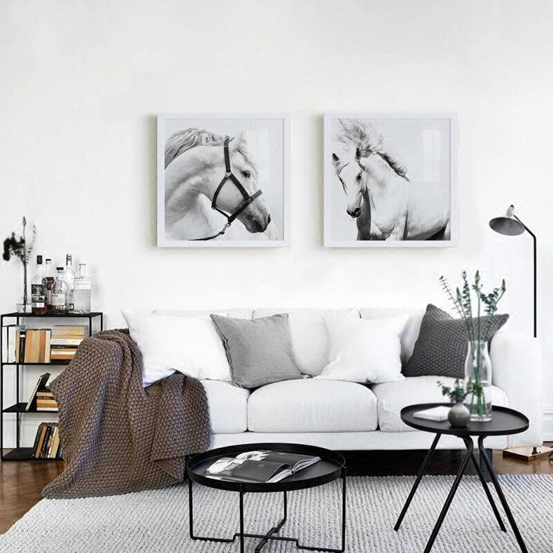 Decor, Artworks, Wall, Black, Horse, DIY