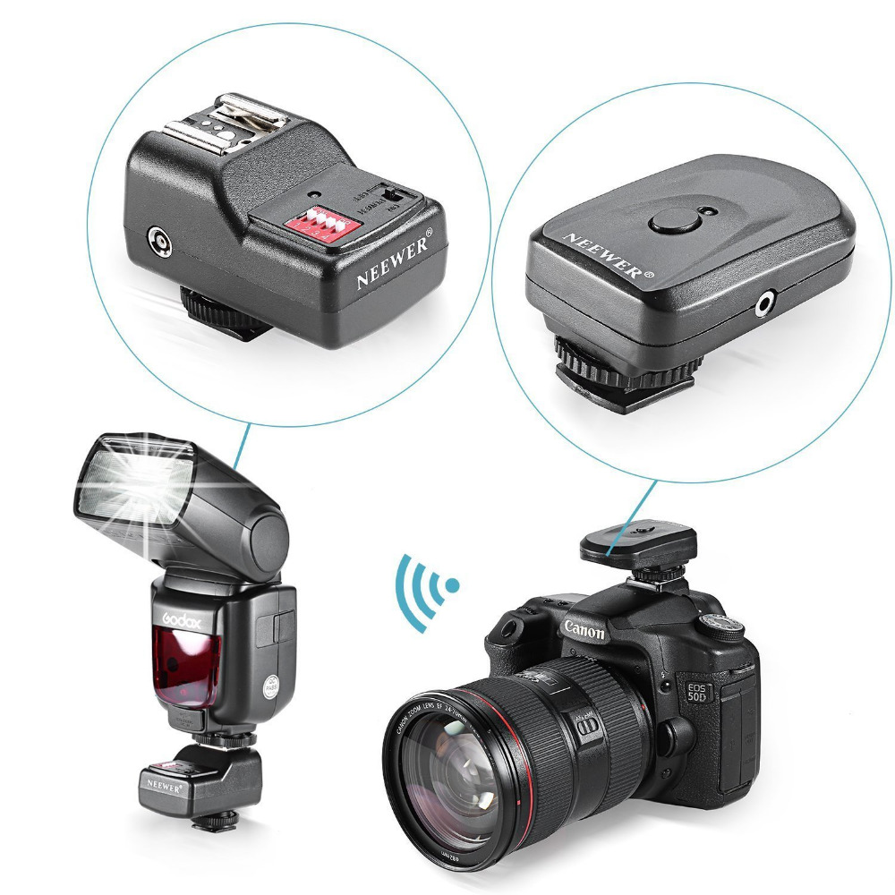 Neewer 16 Kanal Wireless Remote Radio Trigger mit PC Empfänger für Canon/Nikon/Yongnuo Flash/Andere mit Universalschuh