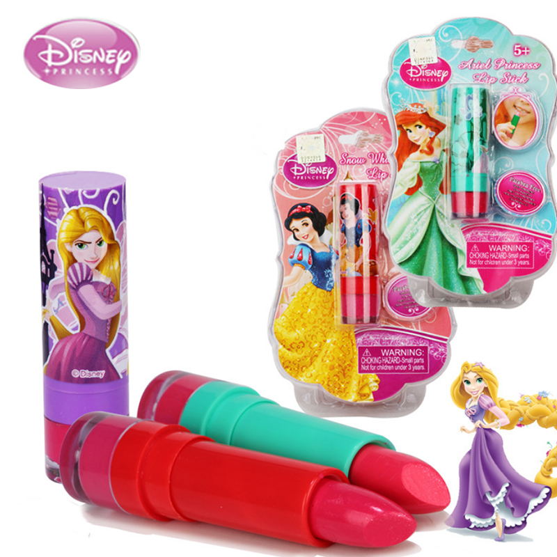 Disney toys for girls Children's Cosmetics Girls Safe Non-toxic Moisturizing Lipstick Lipstick Baby Lip Gloss girls toys frozen