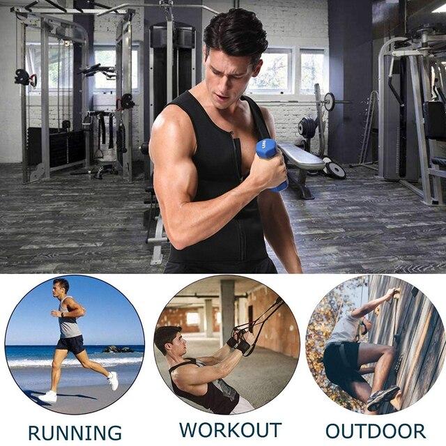 Body Shaper Men Bodysuit Waist Trainer Shapewear Slimming Belt Burning Man Sweat Slim Sweat Vest Shirt Sauna Effect  Shaper 2