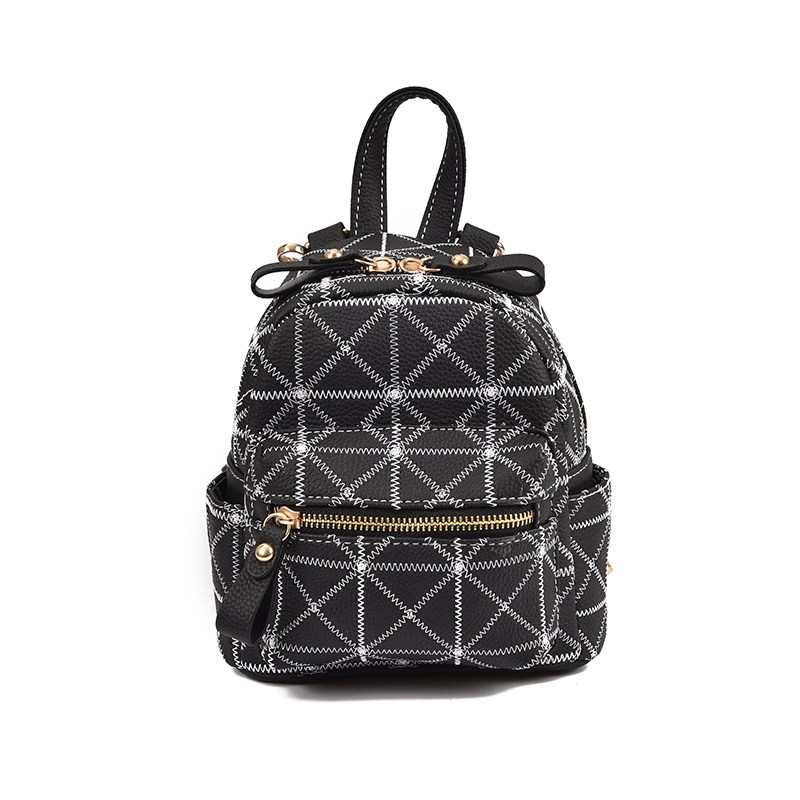 New Arrival Korean Style Women Plaid Mini Daily Backpack High Quality Fashion Students School Bag Female