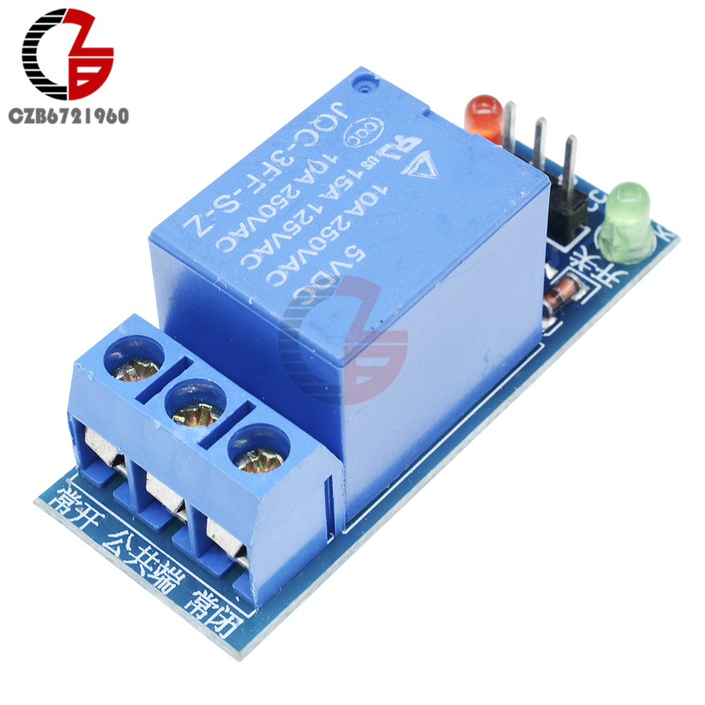 DC 5V 10A 15A 1 Channel Relay Module Interface Board Shield for Arduino Low Level Trigger One AVR DSP MCU AC 220V LED Indicator 5v 2 channel relay module shield for arduino arm pic avr dsp mcu electronic