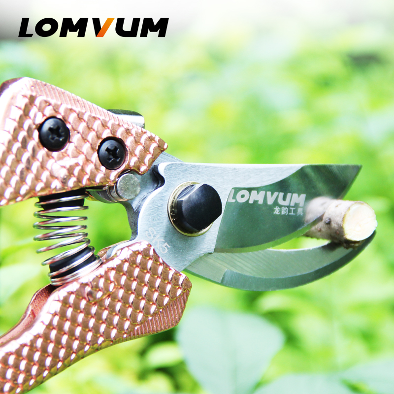 LOMVUM High Quality Gardening Scissors for Pruning of Branches shrubs and flowers with Safety 2