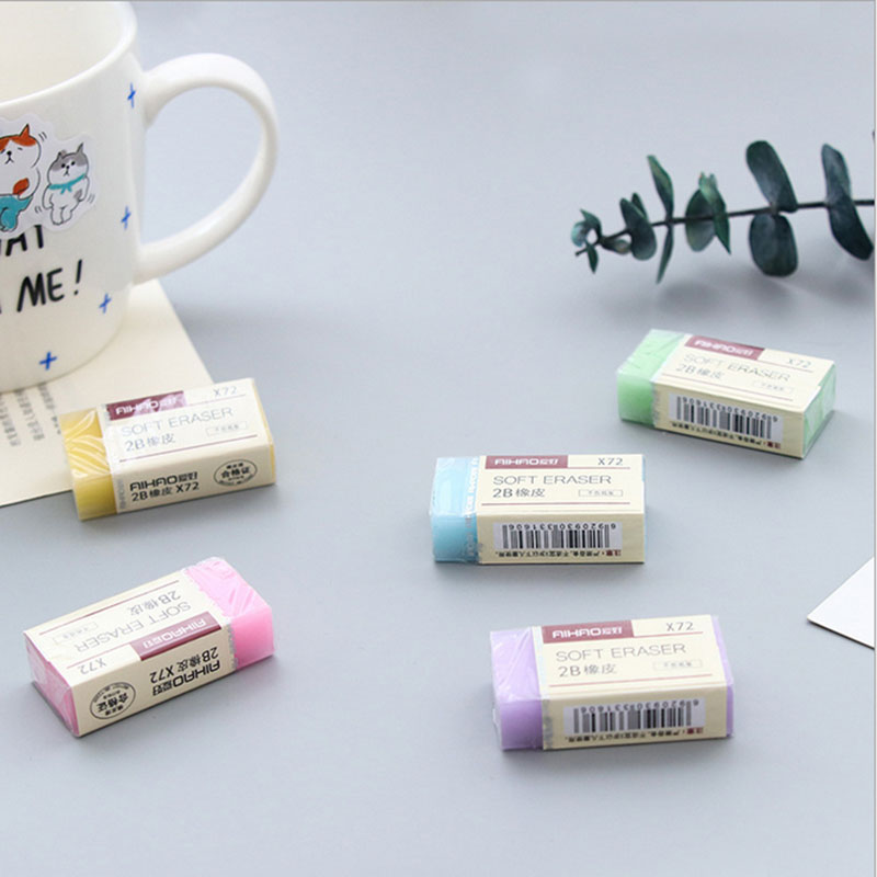 Купить с кэшбэком 1X Cute color 2B Exam special eraser children Learning stationery gift prizes  kawaii school Painting supplies papelaria