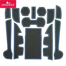 Smabee Gate Игровые Коврики для Toyota Camry 2013-2016 Межкомнатная дверь pad/чашки красный/синий/белый 13 шт. Нескользящие США AU региона