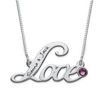 High Quality Customized Necklace Best Gift Crystal Jewelry Any Name Can Drop Shipping YP3106