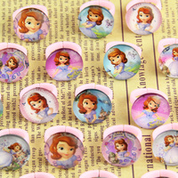 100pcs Lovely Mix Resin and glass Princess Sophia Cartoon Girls Children Birthday Christmas Gift Rings Jewelry Wholesale Shop