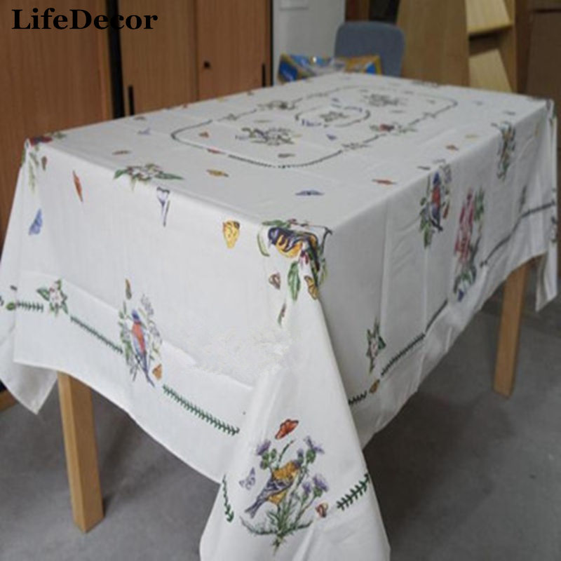 Europe and American Tablecloth Portmeirion Botanic Garden Birds Birds rectangular table cloth European style tablecloth fabric ...