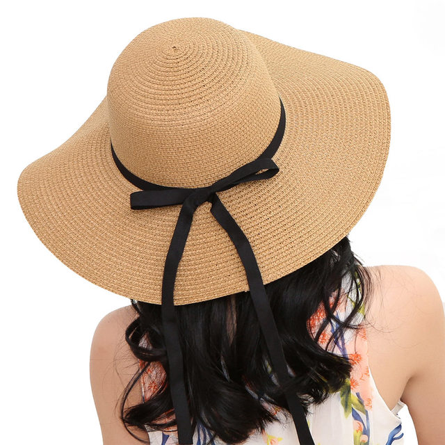 Summer Beach Women Hat Brim Ladies Sun Hat Casual Panama Straw Hat Men Cap  Sun Visor Cap Female Sombrero Chapeau Femme 2019 34eb30407961