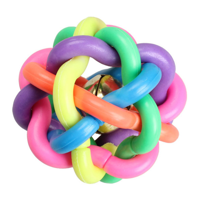 Colorful Rubber Cat Toy Ball