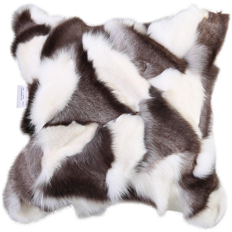 Подушки Детские с лисой изделие Мех животных подушки декоративные Подушки Детские Fox натуральный цвет