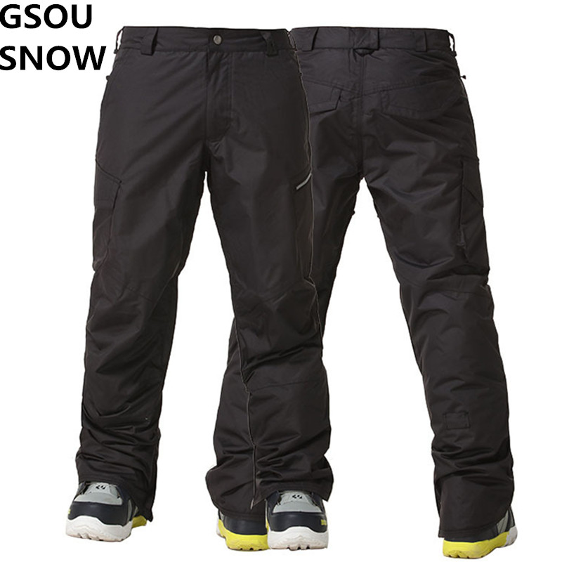 GSOU SNOW Winter Mens Snowboard Pants Ski Snow Waterproof Pants Mens Skiing and Snowboarding Trousers Super Warm Outdoor Wear gsou snow brand ski pants women waterproof high quality multi colors snowboard pants outdoor skiing and snowboarding trousers