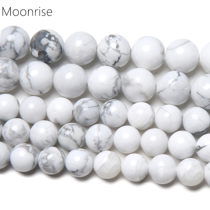 Uncut Chips-Howlite Nuggets Loose Beads for Jewelry Natural AAA Quality Howlite Raw Chips Beads 4mm 5mm 6mm white Howlite Loose Beads
