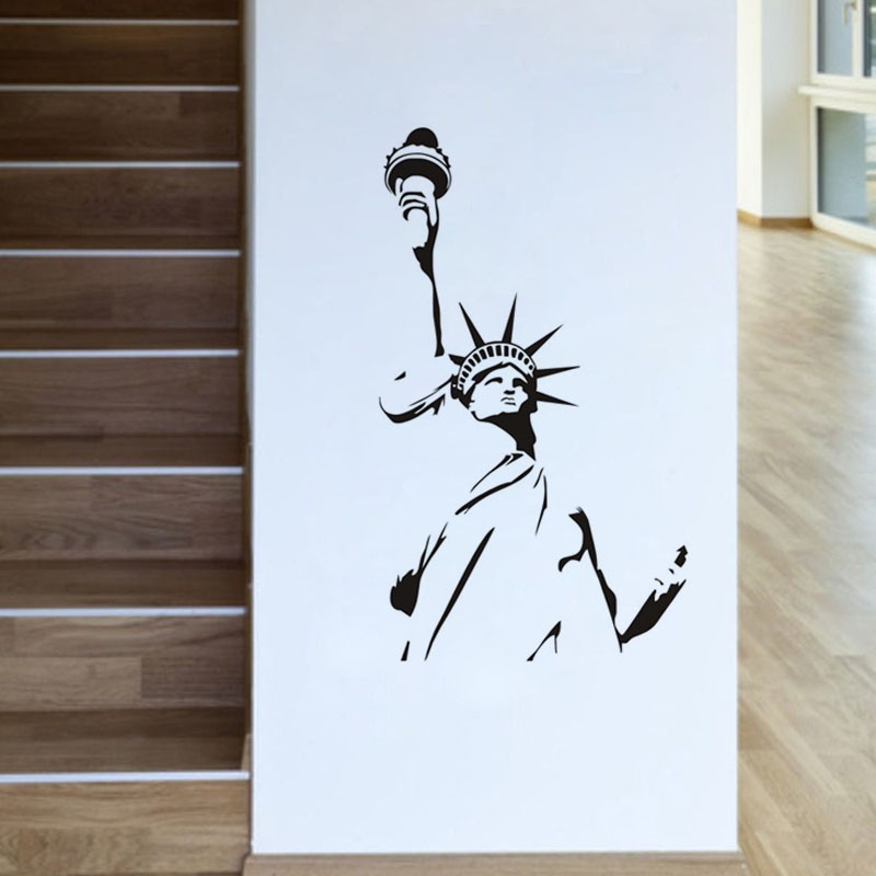 New York City Symbolic Statue Of Liberty Wall Sticker Living Room  Decorative Wall Decal Vinyl Removable