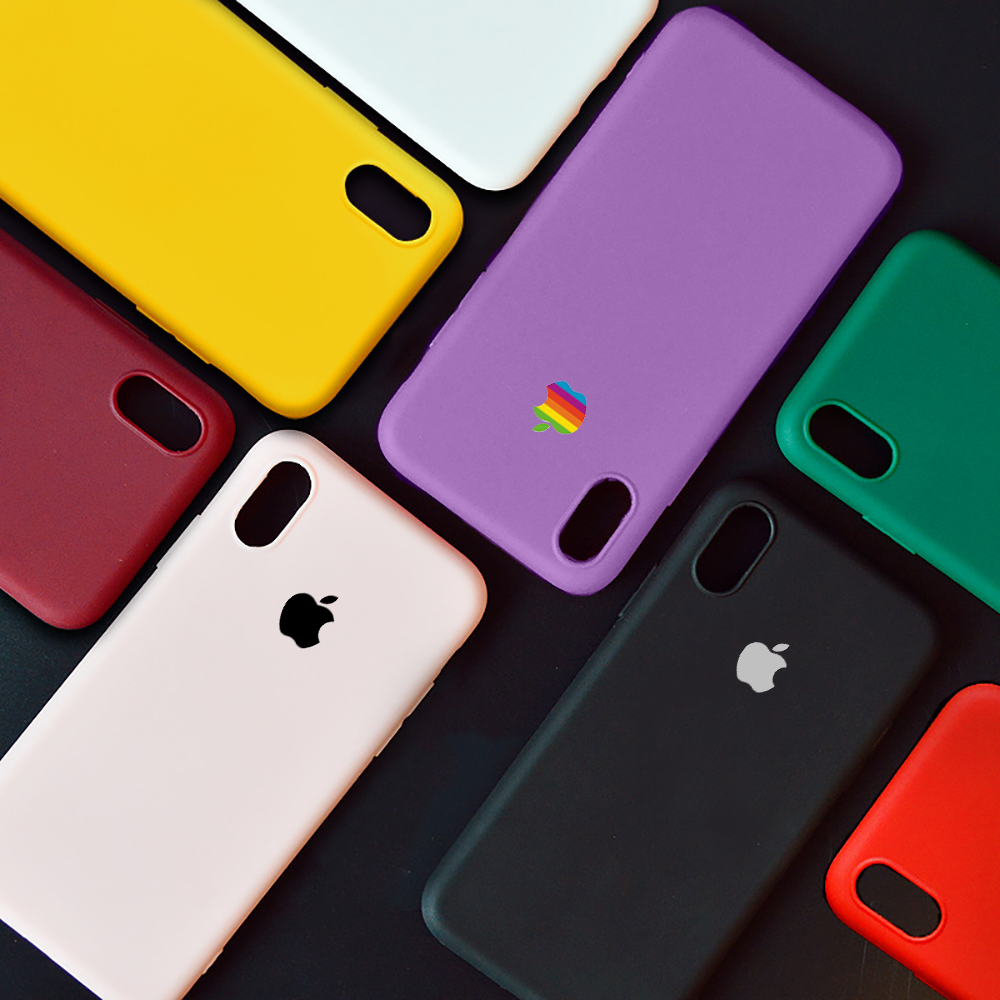 Lovely Simple colour Silicone TPU Cases For iPhone X XR XS MAX for iphone 6 6S 7 8 Plus 5 5s SE