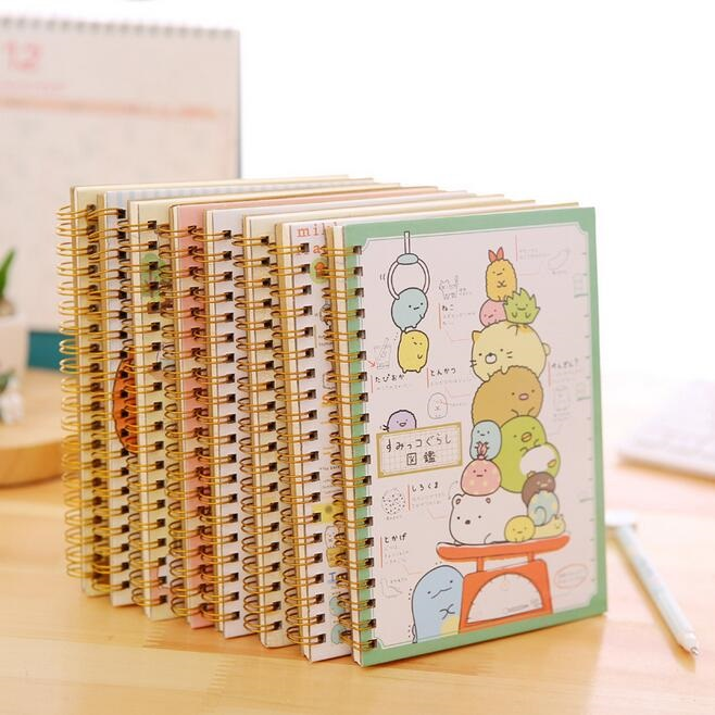 1PCS/lot 180*125mm Lovely Japan Cartoon Rilakkuma & Sumikkogurashi Coil Notebook Diary Book Office School Supplies