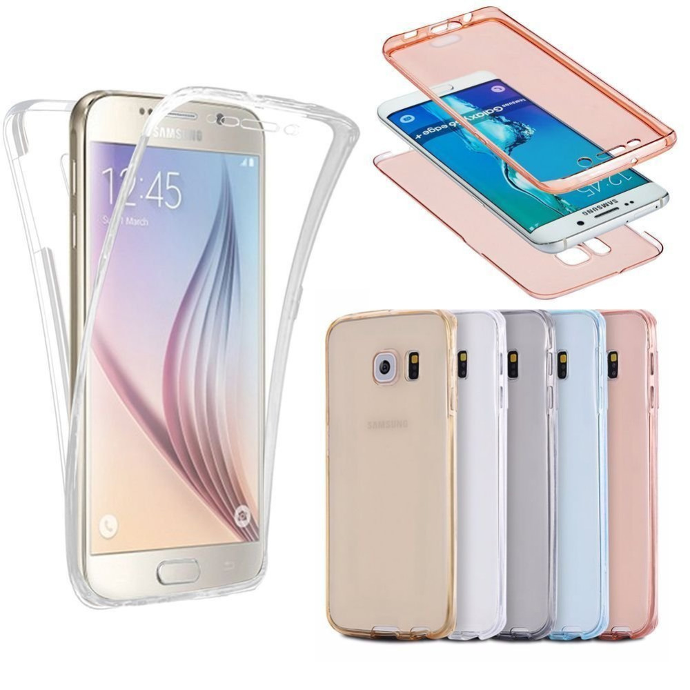 For iPhone 5 5S 6 6S Plus For Samsung Galaxy A3 A5 A7 J3 J5 2016 S3 S4 S5 S6 S7 Edge Plus TPU 360 degree Clear Soft Cover Cases