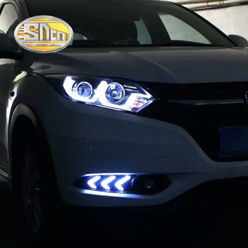 SNCN LED Daytime Running Light For Honda HRV HR-V 2015 2016 2017,Car Accessories Waterproof ABS 12V DRL Fog Lamp Decoration sncn led daytime running light for honda city 2017 2018 car accessories waterproof abs 12v drl auto bulb fog lamp decoration