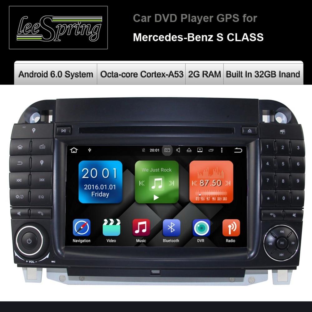 все цены на Android 6.0 CAR DVD player for Mercedes Benz S class W220(S280 S320 S350 S400 S430 S500 W215 car audio stereo Multimedia GPS