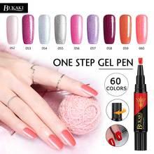 BUKAKI 60 Colors One Step Nail Polish Pen Nail Art Tips UV