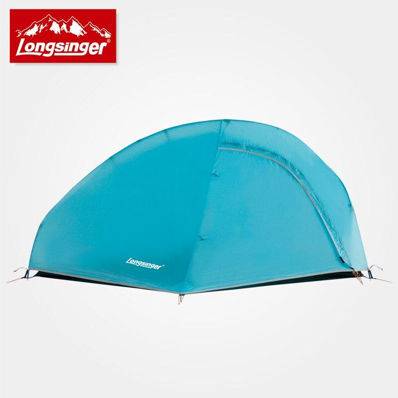 Swervers de silicium ultra-léger seule tente double couche tige d'aluminium camping en plein air tentes alpines