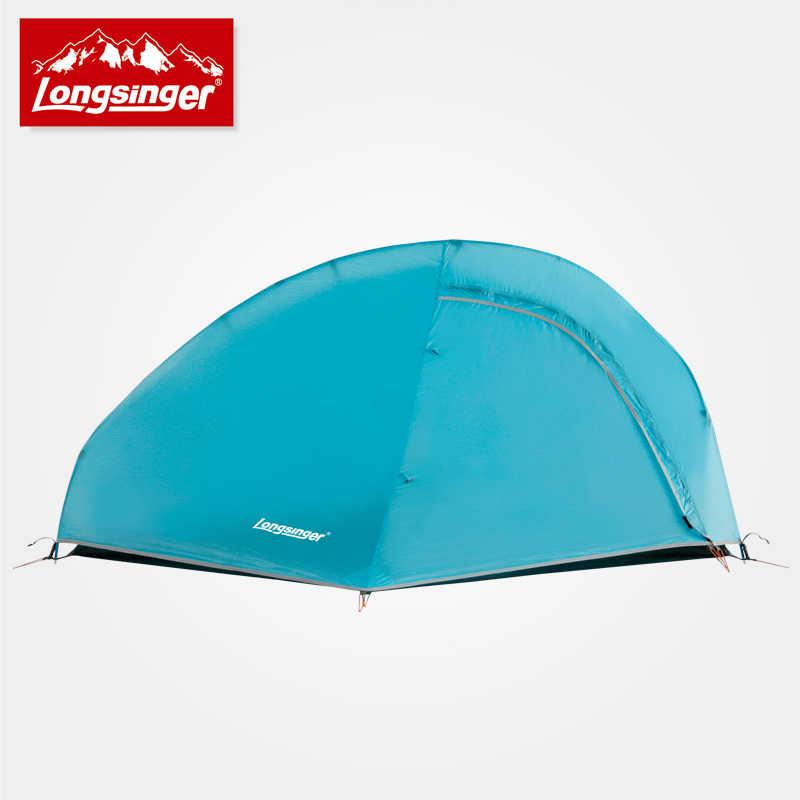 Swervers silicium ultra-léger tente simple double couche aluminium tige camping extérieur tentes alpines