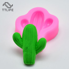 TTLIFE Cactus Silicone Mold Plant Fondant Cake Pastry Biscuit Decorating Tools Chocolate Dessert Sugarcraft Mould Baking Gadget