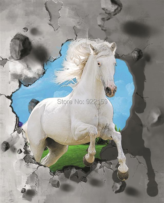 Estremamente Cavalli bianchi stampati dipinti a olio 3d su pareti di tela  SH49
