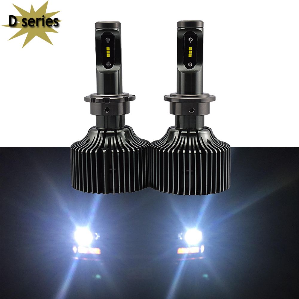 Ultra Bright Car LED Headlight Bulbs Conversion Kit D1S D1R D2C D2S D2R D3S D4R D4S 60w 8400Lm 6000K White Replace Hid Halogen 2pcs d1 d2 d3 d4 d2s d2r d2c d4 car led headlight conversion kit 110w 10400lm 6000k white light bulbs