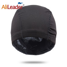 Alileader Black Dome Cornrow Wig Caps Easier Sew In Hair Stretchable Weaving Cap Elastic Nylon Breathable Mesh Net Hairnet(China)