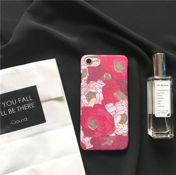 Printemps Rose Fleur pour iPhone 6 s 6 6 plus 6 splus Téléphone cas pour Apple iPhone 7 7 plus PC Dur Femelle Cas féministes