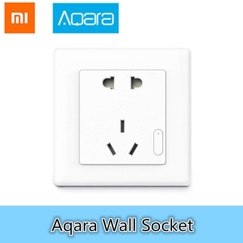 Xiaomi Aqara Prise Murale PVC ZigBee Wifi Smart Remotel Contrôle Sans Fil Interrupteur Travail