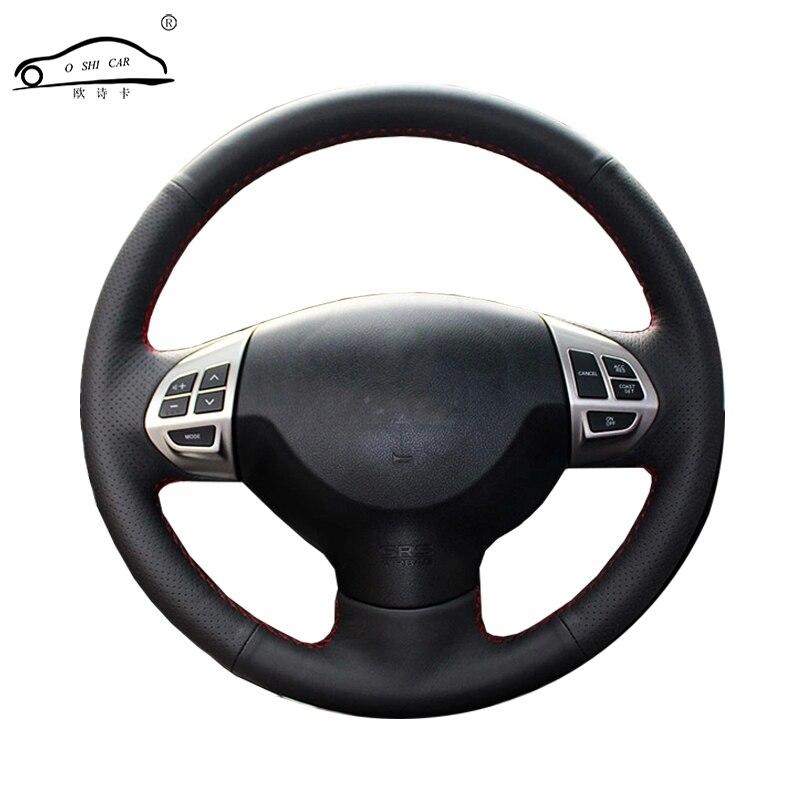 Steering wheel braid for Mitsubishi Lancer EX10 Lancer X Outlander ASX Colt Pajero Sport/Custom made auto steering wheel cover